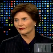 Laura Bush, during her interview with Larry King.