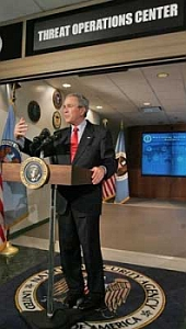 President Bush at the National Security Agency.
