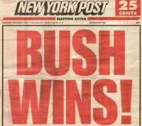 A 'New York Post' headline from the morning of November 8.