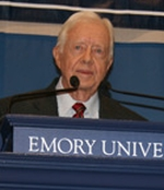 Jimmy Carter speaks at Emory University.