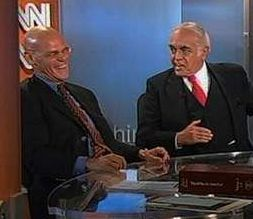James Carville and Robert Novak, moments before Novak leaves the CNN set.