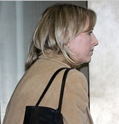 Cathie Martin entering the courthouse.