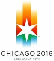 The Chicago 2016 Olympic logo.