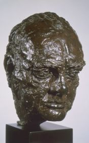 The bust of Winston Churchill, loaned to the White House by the British government.