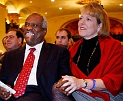 Supreme Court Justice Clarence Thomas and his wife, political activist Virginia Thomas.