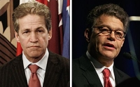 Norm Coleman (l) and Al Franken (r) are locked in a recount battle for a US Senate seat representing Minnesota.