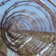 Concertina wire.