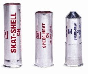 Pyrotechnic CS gas canisters.