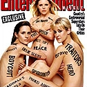 The cover of an April issue of Entertainment Weekly featuring nearly-nude depictions of the Dixie Chicks, all with words written on their skin used in commentaries about the band.