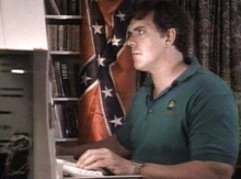 Don Black, working on the Stormfront.org Web site.