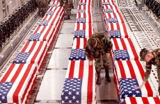 Coffins of US war dead are shipped through Dover Air Force Base.
