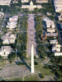 This 1997 photograph was circulated as 'proof' that the September 12, 2009 rally had millions in attendance.