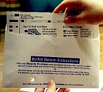 A Florida absentee ballot.