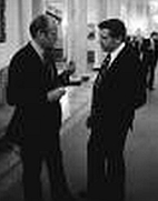 President Ford and his lawyer, Benton Becker, discuss pardoning Nixon.
