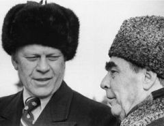 Ford and Brezhnev in Vladivostok, 1974.