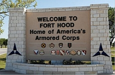 Entrance to Fort Hood, Texas.