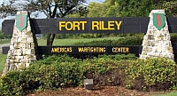 Entrance to Fort Riley, Kansas.