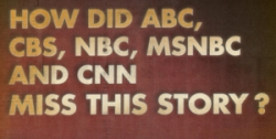 Portion of Fox News ad asking why other networks 'missed' the story of the 9/12 rally.