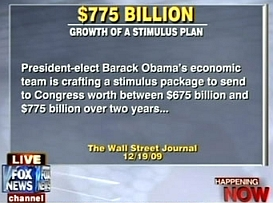 Fox News on-air graphic repeating a typo from the original Senate Republican Communications Center press release.