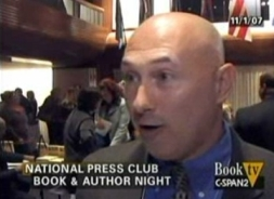 James Guckert, a.k.a. 'Jeff Gannon,' being interviewed at the National Press Club in 2007.