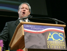 Al Gore speaks to the Liberty Coalition and the American Constitution Society.
