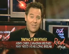 Greg Gutfeld of Fox's 'Red Eye' during the March 17 broadcast.