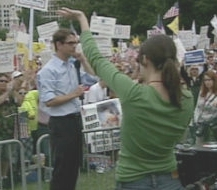 Fox News producer Heidi Noonan exhorting a 9/12 rally crowd.