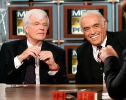 Al Hunt and Robert Novak on NBC&#8217;s &#8216;Meet the Press.&#8217;