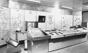 One of five secret, underground 'control rooms' built by East German intelligence to help coordinate a Soviet counterattack against a US first strike.