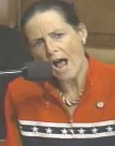 Jean Schmidt making her statement on the floor of the House.