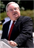 Conservative Baptist preacher Jerry Falwell, who speaks out against the anti-gay rhetoric of the Westboro Baptist Church.