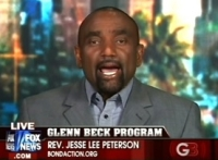 Jesse Lee Peterson, appearing on a Fox News broadcast.