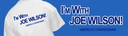 A T-shirt being marketed in support of Joe Wilson's re-election campaign.