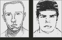 "The sketches of ""John Doe No. 1"" and ""John Doe No. 2"" as released by the FBI."
