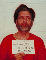 Ted Kaczynski's mug shot.