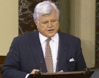 Senator Ted Kennedy (D-MA) speaking to the US Senate.