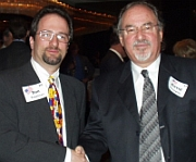 Daniel Kopelman (l) poses with conservative activist David Horowitz (r) at a 2004 Young Republicans function in Arapahoe County.