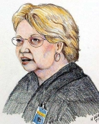Courtroom sketch of Lana Padilla.
