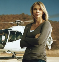 Lara Logan, in a 2008 photo from Iraq.