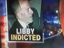 Screen graphic from CNN's coverage of Lewis Libby's indictment.
