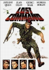 Cover art for the 1966 film 'Lost Command,' based on the book 'Les Centurions.'