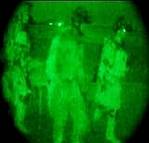 Still photo from Defense Department video of Lynch's rescue.