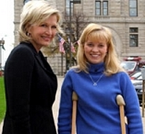 Diane Sawyer and Jessica Lynch.