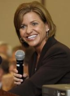 Representative Lynn Jenkins speaks at the August 19 forum in Hiawatha, Kansas.