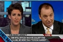Rachel Maddow and Ron Suskind during their MSNBC interview.