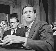 Jeb Magruder testifies before Watergate investigators.