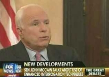 McCain speaking against torture on Fox News.