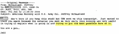 E-mail from Jeffrey McCauseland.