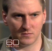 An image from the &#8216;60 Minutes&#8217; broadcast of its interview with Timothy McVeigh.