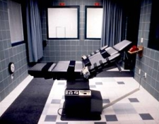 The execution chamber in the Terre Haute, Indiana, federal prison. McVeigh is strapped into this chair and executed by lethal injection.